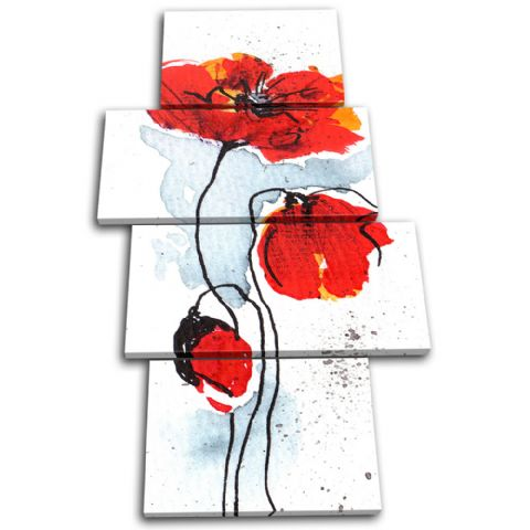 Poppies Flowers Floral - 13-1197(00B)-MP04-PO
